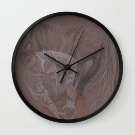 Changing shoes Wall Clock