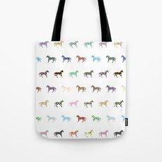 Colorful Horses Lantern Pattern  Tote Bag