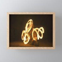 Fire Dancing Pattern Framed Mini Art Print