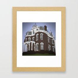Scary Mansion Framed Art Print