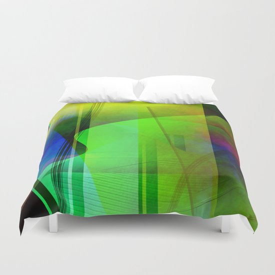 Multicolored abstract 2016 / 006 Duvet Cover