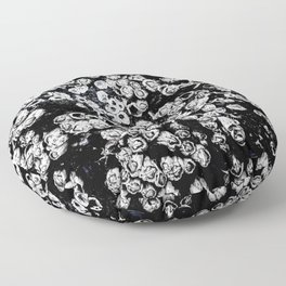 Black and White Barnacles Floor Pillow
