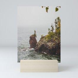 Sea Stack, Tettegouche State Park, Minnesota 2 Mini Art Print