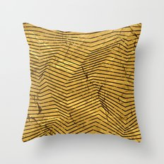 Line Gold Pattern Throw Pillow