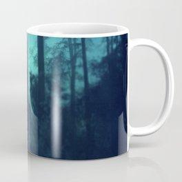 Light in a cyan forest Coffee Mug