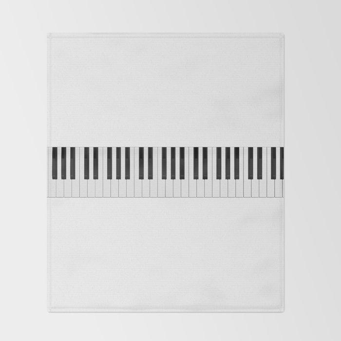 Piano / Keyboard Keys Throw Blanket