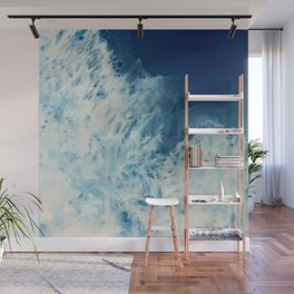 Bright, White, Frothy Ocean Surf Wall Mural