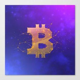 BITCOIN Galaxy Canvas Print