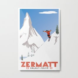 Zermatt, Valais, Switzerland Metal Print