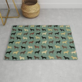 Labrador Retriever Dog Silhouettes Pattern Rug