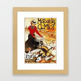 Vintage Comiot Motorcycle Ad - Paris Framed Art Print