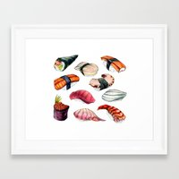sushi Framed Art Prints featuring Sushi by BigRedSharks