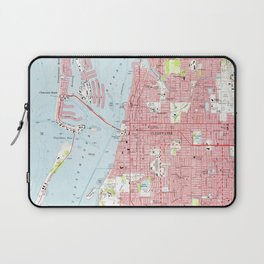 Vintage Map of Clearwater Florida (1974) Laptop Sleeve
