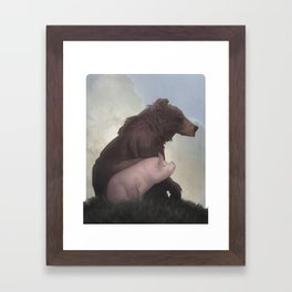 Bear and Pig Framed Art Print
