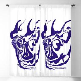face8 blue Blackout Curtain