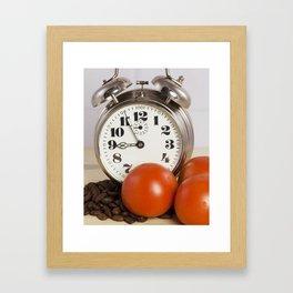 Breakfast time Framed Art Print