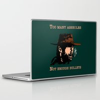 clint eastwood Laptop & iPad Skins featuring Clint Eastwood by Mr. Stonebanks