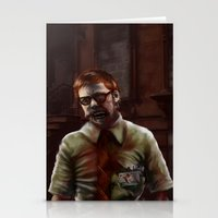 teacher Stationery Cards featuring Zombie Teacher by Brett Fitzpatrick
