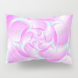 Spiral Pincers in Pink and Blue Pillow Sham