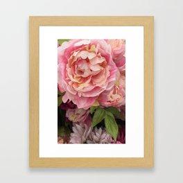 Oil Paint Flower Framed Art Print