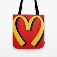 moschino Tote Bags featuring McDonald's MOSCHINO by RickyRicardo787