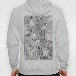 White Snow Flowers Hoody