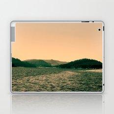 Sunsetting landscape photography of sky, lake and mountain. Laptop & iPad Skin