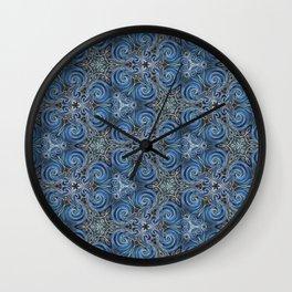 swirl blue pattern Wall Clock