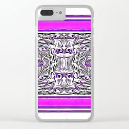 Purple Peacock LOVE Clear iPhone Case