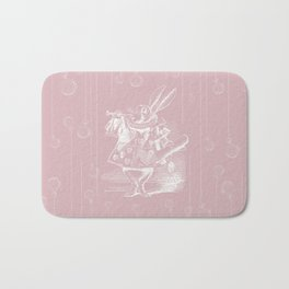 White Rabbit and Clocks Bath Mat