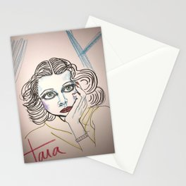 Hedy in Blue Stationery Cards