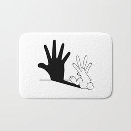 Rabbit Hand Shadow Bath Mat
