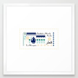 Paris _ le quartier arabe Framed Art Print