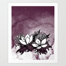 Flower Tangle Art Print