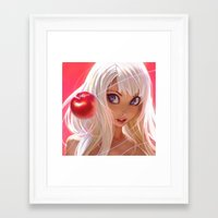 apple Framed Art Prints featuring Apple by Ilya Kuvshinov
