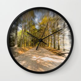 Spinning Road Wall Clock