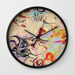 THE ROSE AND THE BUTTERFLY Wall Clock