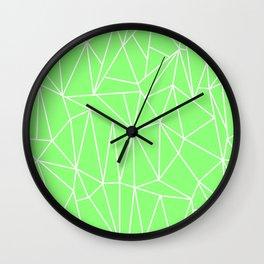 Geometric Cobweb (White & Light Green Pattern) Wall Clock