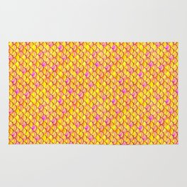 Yellow Pink Scales Rug
