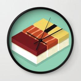 Cubic Sushi Wall Clock