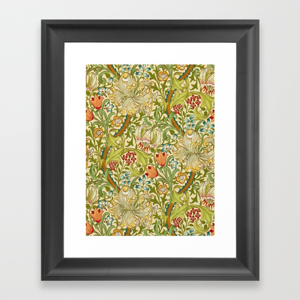 William Morris Golden Lily Vintage Pre-raphaelite … Framed Art Print by Artgallery FRM7426207