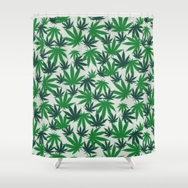 420 Cannabis mary jane Weed Pattern Gift Shower Curtain