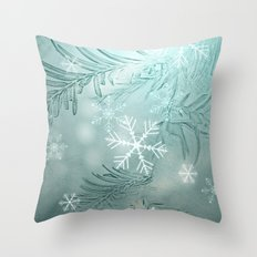magical snow Throw Pillow
