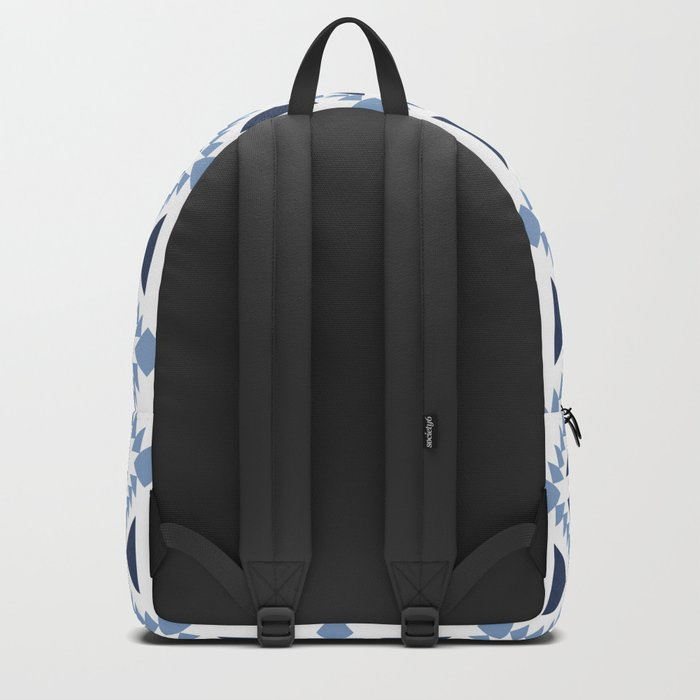 Geo Stamp Blue Backpack