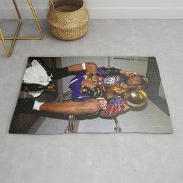 K.B , Kobe#Bryant Celebration with Trophies in Bathroom Canvas Wall Art -Mamba Poster Rug