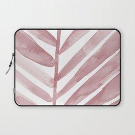 Pink Palm Leaf Crop Laptop Sleeve