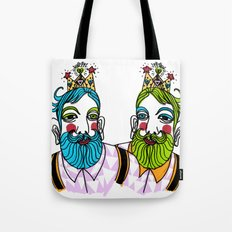 Crown Beard Twins Tote Bag