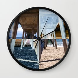 Quadrants of An Ocean Pier Wall Clock