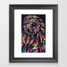 Geometric owl Framed Art Print