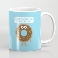 depression Mugs featuring It's Not All Rainbow Sprinkles... by David Olenick